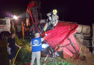 Caminhoneiro morre em acidente na PR 151 em Palmeira