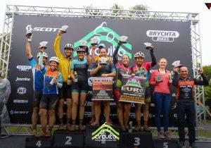 Ciclistas palmeirenses participam do Circuito Estações de MTB 2019 em Tijucas do Sul