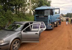 Caminhão furtado em Palmeira foi localizado em bairro de Ponta Grossa
