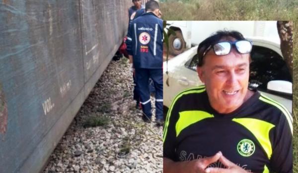 Motoqueiro morre ao ser atingido pelo trem em Palmeira