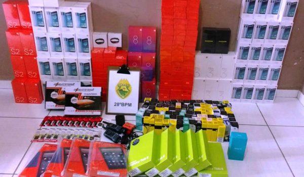 Seis suspeitos são presos com R$ 35 mil em contrabando em Palmeira