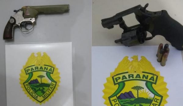 PM realiza apreensão de duas armas de fogo, uma delas durante caso de violência doméstica