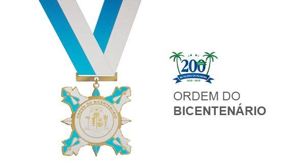 Palmeirenses que se distinguiram com ações relevantes serão condecorados pela Ordem do Bicentenário
