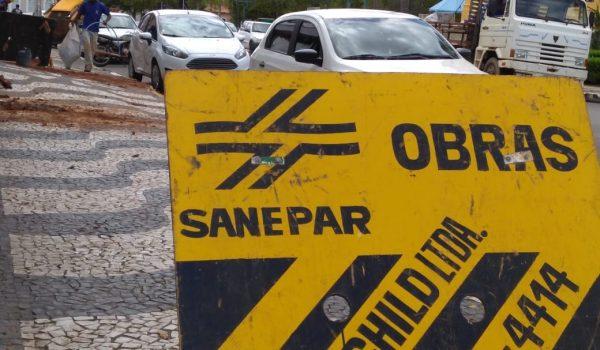 Obras da Sanepar podem afetar abastecimento  de água nesta terça-feira (16)