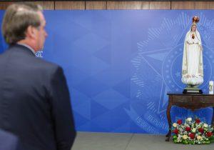 Bolsonaro participa de ato religioso no Palácio do Planalto
