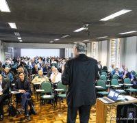 O encontro de formação do Clero está sendo realizado na Casa de Retiros Nossa Senhora do Mossunguê, em Curitiba.
