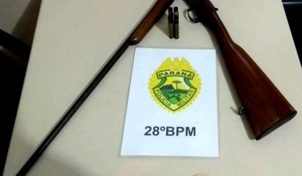 Homem é preso por posse irregular de arma de fogo, ameaça e lesão corporal