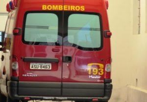 Bombeiros atendem três ocorrências, todas com encaminhamentos ao Pronto Atendimento