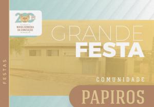 Comunidade do Papiros comemora Santa Rita de Cássia