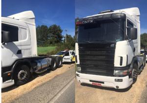 PRE recupera em Palmeira caminhão roubado na BR 476 em São Mateus do Sul