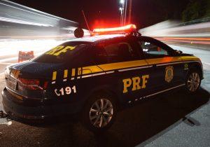 PRF atende colisão traseira na BR 277 em Palmeira