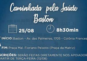 Caminhada pela Saúde da Baston acontece neste domingo (25)