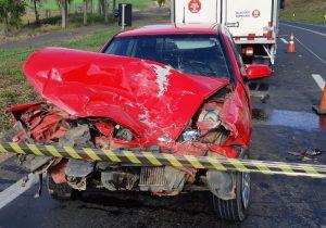 Acidente de trânsito na BR 277 deixa dois feridos