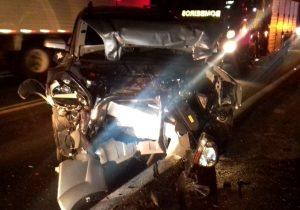 Acidente de trânsito na BR 277 em Palmeira deixa cinco feridos