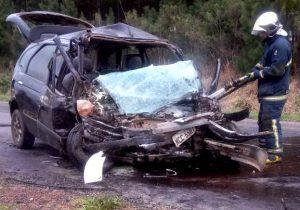 Acidente na PR 151 entre Palmeira e Ponta Grossa deixa uma vítima
