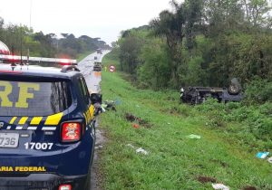 PRF atende mais um acidente com morte na BR 277 em Palmeira
