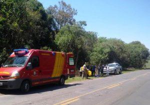 Três veículos se envolvem em acidente na PR 151 em Palmeira