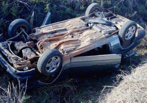 Condutor morre em capotamento na localidade de Quero Quero em Palmeira