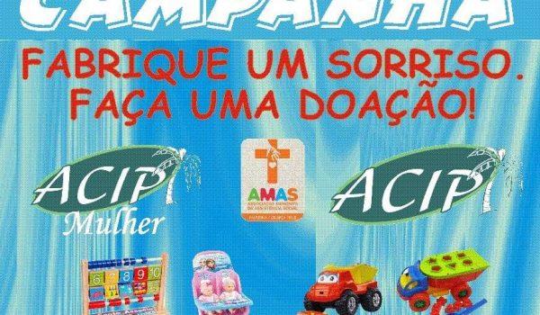 AMAS e ACIP promovem 2ª edição da campanha de arrecadação de brinquedos