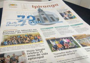 Aniversário de 70 anos da Paróquia Menino Jesus de Porto Amazonas é destaque do Jornal Ipiranga