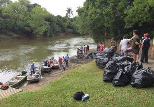 Rotary Clube promove 22ª edição de limpeza do Rio Iguaçu