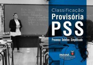 Classificação provisória do PSS está disponível para consulta
