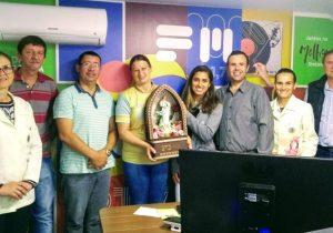 Imagem peregrina visita Rádio Ipiranga