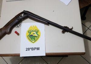 PM atende situação de posse irregular de arma de fogo no interior de município
