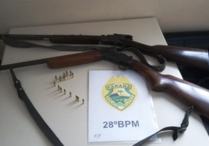 Briga familiar leva PM a recolher duas armas de fogo