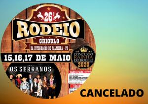 UTP cancela o Rodeio deste ano na cidade