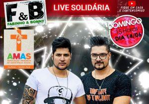 Dupla Fabinho e Bonny realiza live em prol da AMAS neste domingo (14)