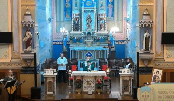 Paróquia de Palmeira oferece novidades nas transmissões de missas pela internet