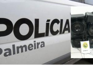 Após denúncia de perturbação do sossego, Polícia apreende aparelho de som