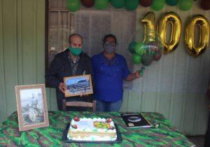Ex-combatente da FEB recebe homenagem do Exército ao completar 100 anos