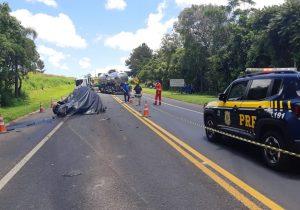 PRF atende acidente com óbito na BR 277 em Palmeira
