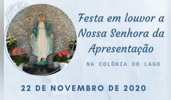Comunidade do Lago celebra padroeira neste domingo (22)