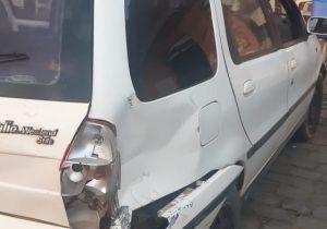 Automóvel com placa de Palmeira se envolve em acidente em Prudentópolis