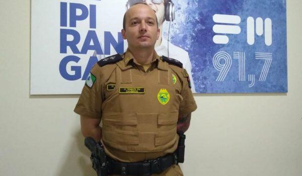 Comandante da Polícia Militar de Palmeira participa de entrevista na Rádio Ipiranga