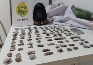 Polícia Militar realiza apreensão de drogas em Porto Amazonas