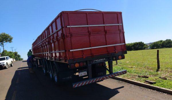 Carreta carregada de cimento é roubada na BR 277, em Palmeira