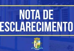 NOTA DE ESCLARECIMENTO: Sobre denúncia de gastos de R$ 2,5 mil em lanches na Prefeitura Municipal de Palmeira