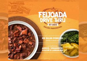 Paróquia Nª Srª da Conceição promove Feijoada Drive Thru neste sábado (07)