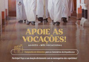 Paróquia Nª Srª da Conceição convoca comunidade para doação de alimentos para seminário