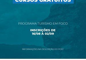 Programa Turismo em Foco abre cursos voltados para a área do turismo