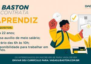 Baston contrata Jovem Aprendiz faixa etária de 18 a 22 anos