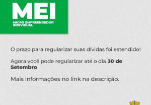 Prazo para regularização de MEI é prorrogado para dia 30