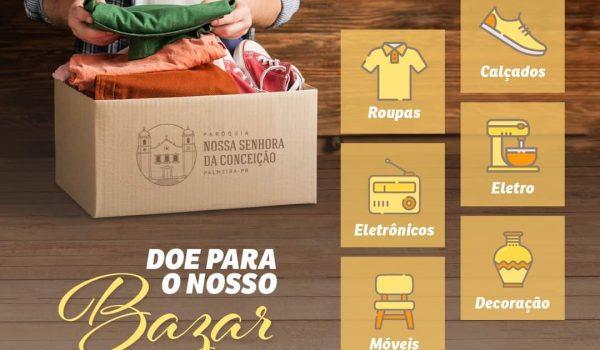 Paróquia Nª Srª da Conceição realizará bazar no dia 1º de outubro