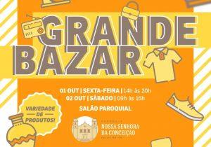 Paróquia Nª Srª da Conceição realizará bazar nos dias 1 e 2 de outubro