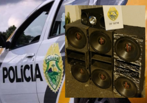 Polícia encaminha jovem por embriaguez ao volante e apreende equipamento de som